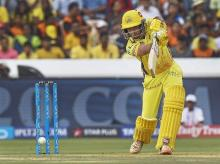 CSK batsman Ambati Rayudu plays a shot  during an IPL T 20 cricket match against Sunrisers Hyderabad in Hyderabad on Sunday | Photo: PTI