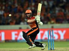 Sunrisers Hyderabad batsman Kane Williamson plays a shot during an IPL T20 cricket match against Delhi Daredevils in Hyderabad. File photo: PTI