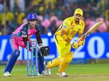 Chennai Super Kings' Suresh Raina plays a shot against Rajasthan Royals during an IPL T20 cricket match in Jaipur. File photo: PTI