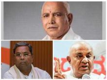 Karnataka Election 2018 LIVE: BJP's Yeddyurappa (contesting from Shikaripura), Siddramaiah from Badami and national president of the Janata Dal (Secular) party H D Gowda