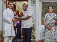 Kumaraswamy, Rahul Gandhi, Sonia Gandhi
