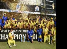 CSK celebrates after IPL win