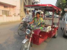 Most of the women e-rickshaw drivers associated with Humsafar are aged between 25 and 40