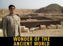 Arsh Ali at the ancient Saqqara burial site in Egypt