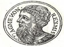 Agamemnon, the king who led the Greeks to war against the Trojans