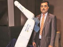 TAL Manufacturing Solutions COO (robotics) Amit Bhingurde during the launch of Brabo