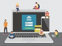 Digital, online banking transaction
