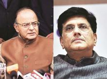 arun jaitley, piyush goyal, finance minister, bjp, narendra modi government