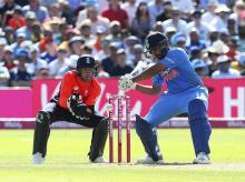 File photo: India's Rohit Sharma bats, during the 3rd T20I Series cricket match between England and India, at the Brightside Ground, in Bristol, England, Sunday July 8, 2018