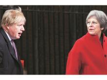 Boris Johnson, Theresa may