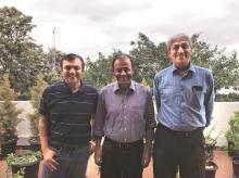 (From Left) Inventus founders Rutvik Doshi,  Parag Dhol and Samir Kumar