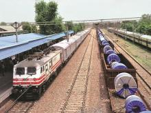 Indian railways freight train