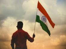India flag, India