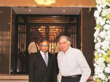 Ratan Tata and N Chandrasekaran at re-opening of iconic Bombay House