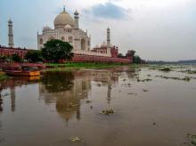 monsoon, monsoon rain, heavy rain, up, taj mahal, river yamuna, up rainfall, delhi rainfall,