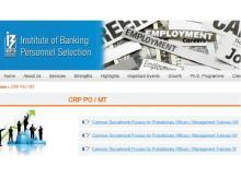 IBPS notification on its official website