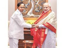 K Chandrasekhar Rao, narendra modi
