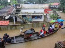 Kochi flood, rescue operation