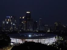 Opening ceremony - A general view of the GBK Main Stadium