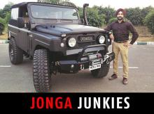 Abhilash Nambiar with his restored 1977 model Jonga