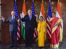 2 2 talks, 2 2 dialogue, India, US, sushma swaraj, narendra modi, Donald trump ,mike pompeo, Money,H-1B visa,Nirmala Sitharaman,America,Trump administration,Indians,Micheal Pompeo,External Affairs Minister,Prime Minister,U.S. Congress,China,President