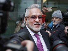Liquor baron Vijay Mallya arrives to attend a hearing at Westminster Magistrates Court in London on Wednesday | Photo: AP/PTI