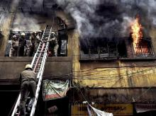 bagri market fire, kolkata fire