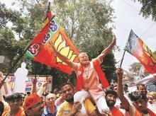 modi, celebration, karnataka, bjp