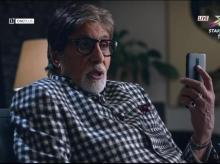 Screenshot taken from OnePlus 6T television advertisement featuring Amitabh Bachchan