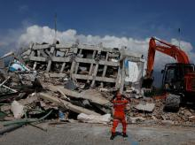 An area hit by an earthquake and tsunami in Palu, Sulawesi. File Photo: Reuters