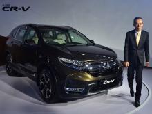 Gaku Nakanishi, President and CEO, Honda Cars India at the launch of 5th generation All new CR-V Photo: Sanjay Kumar Sharma