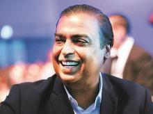 RIL Chairman Mukesh Ambani. The latest acquisitions will  fit in with RIL's cable broadband push  through Jio