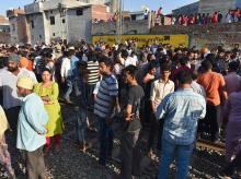 amritsar, amritsar train accident, train accident, protesters, protesters on tracks