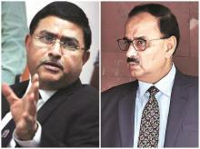 CBI Special Director Rakesh Asthana (left) and CBI Director Alok Verma were summoned by the Prime Minister's Office