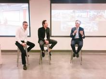 Ryan, Jared and Bill McDermott talk about the future of Qualtrics and SAP. Photo: @Qualtrics