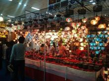Traditional lamps from Turkey draw in business enquiries from business visitors on Wednesday