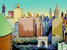 A view of Manhattan in a panel from Amazing Spider-Man (Courtesy: Marvel)