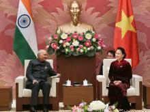 Ramnath kovind, President kovind, kovind with Nguyen Thi Kim Ngan , kovind in vietnam