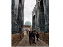 The Shah-i-Zinda avenue of mausoleums in Samarkand