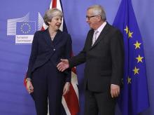 theresa may, UK Pm , May, brexit, EU, brussels, President Jean-Claude Juncker