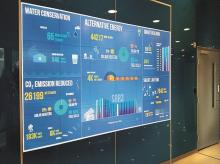 The building is packed with eye-popping smart features, including some 9,000 sensors,