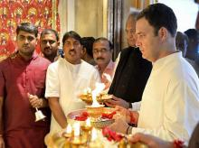 The BJP sees red whenever Rahul Gandhi visits a temple