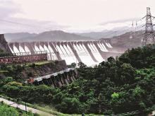 Hydro power, dam