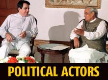 DRAMATIC OUTREACH: In 1999, actor Dilip Kumar, a long-time Congress loyalist, met then prime minister Atal Bihari Vajpayee to quell protests against him for accepting Pakistan's highest civilian award