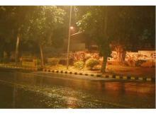 Delhi & adjoining regions witnessed light rain & drizzle last night. Photo: AIR