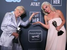 Critics' Choice Awards- Lady Gaga for A Star Is Born and Glenn Close for The Wife (tie)