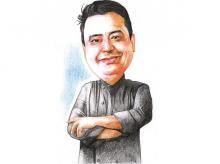 Manish Mehrotra, chef, indian accent. Illustration by Binay Sinha