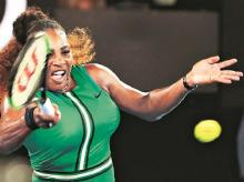 Serena Williams during a match against Eugenie Bouchard at the Australian Open. Photo: Reuters