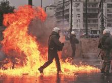 athens, clashes in athens