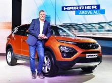Guenter Butschek, CEO and MD, Tata Motors launch the new SUV Harrier in Mumbai (Photo by Kamlesh Pednekar)